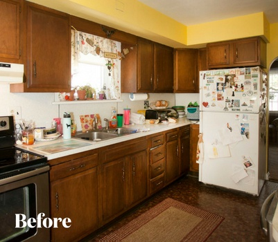 Transitional Wood Kitchen Remodel Before