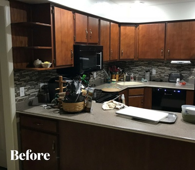 Gray Kitchen Remodel Before Photo