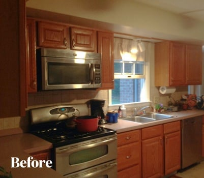 Cherry Contemporary Kitchen Remodel Before Photo