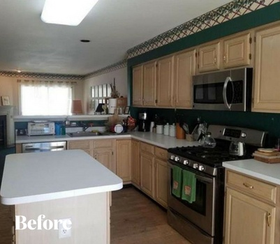 Black Contemporary Kitchen Remodel Before