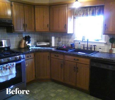 White Kitchen Before Photo