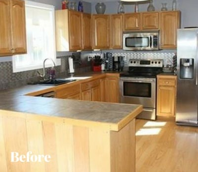 White Contemporary Kitchen Remodel Before Photo