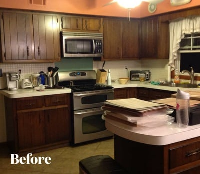 Traditional White Kitchen Transformation Before