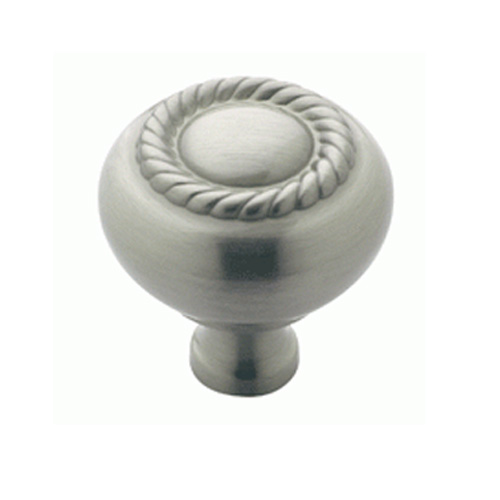 Scroll Satin Nickel Rope Knob