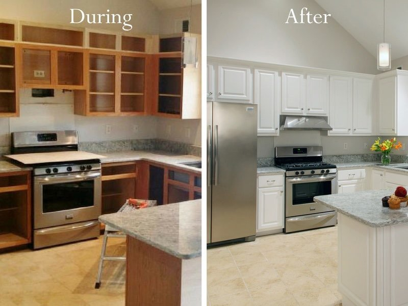 Afraid youu0027re not a candidate for refacing because you want taller cabinets? No problem we can reface your cabinets AND increase the height! & Kitchen Cabinet Refacing | Cabinet Resurfacing