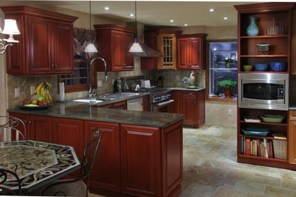 Beau Handcrafted Cabinets Kitchen