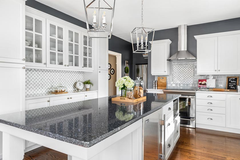 White Cabinets in Remodeled Kitchen