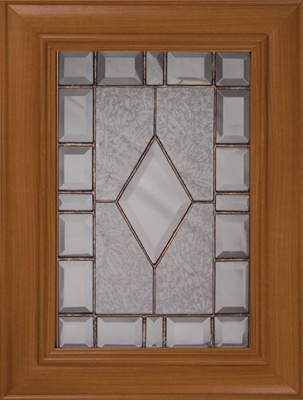 Glass Pattern 3 Leaded-pattern Glass Doors