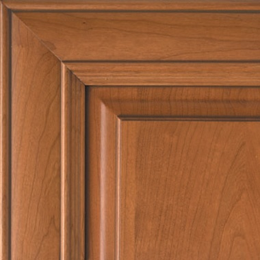 Harvest Gold on Cherry Caramel Glaze Cabinet-door-color