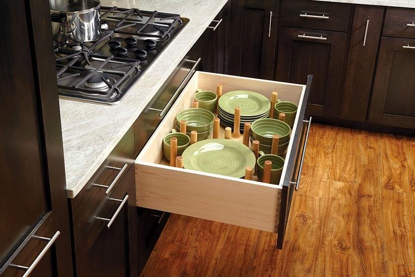 kitchen storage drawer peg