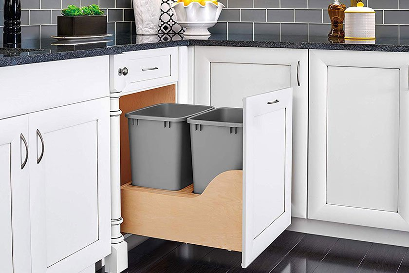 pull-out kitchen trash storage