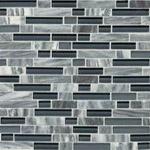 Glacier Gray Mosaic Blend Backsplash