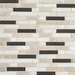 Kinetic Khaki Mosaic Blend Backsplash