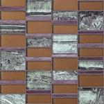 Bali Bronze  - Glass & Metal Mosaic Blend Backsplash