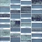 Caspia  - Glass & Metal Mosaic Blend Backsplash