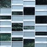 Indo  - Glass & Metal Mosaic Blend Backsplash