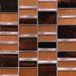 Java Copper - Glass & Metal Mosaic Blend Backsplash