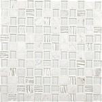 White Wonder Mosaic Blend Backsplash
