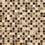 Caramel Travertine Mosaic Blend Backsplash