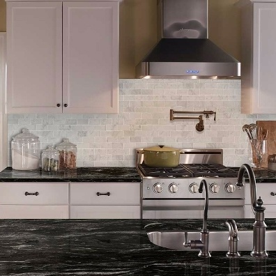 White Carrara Marble Kitchen Tile