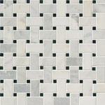 Carrara White Basket Weave Marble Backsplash