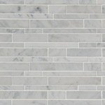 Carrara White Interlocking Marble Backsplash