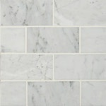 Carrara White 2x4 Marble Backsplash