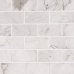 Carrara White 6x3 Marble Backsplash