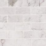 Carrara White 6x3 Marble Backsplash