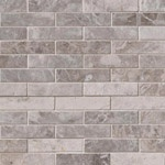 Tundra Gray 4x1 Marble Backsplash