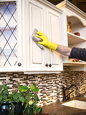Cleaning Maintenance-Free Cabinet Doors