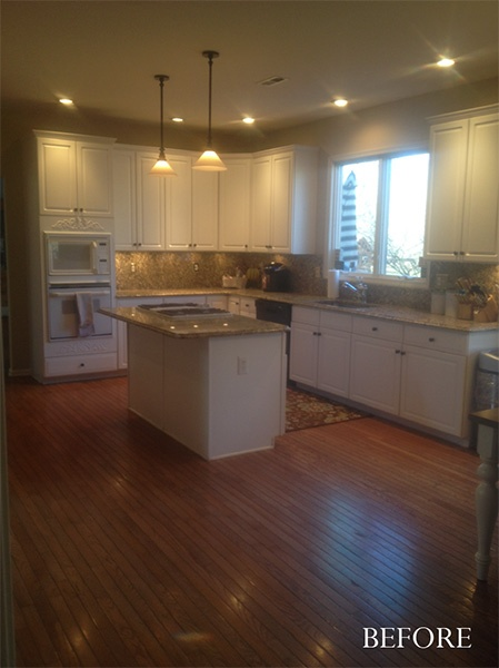 This chocolate pear kitchen is a perfect example of for Chocolate pear kitchen cabinets