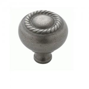 Weathered Nickel Rope Knob